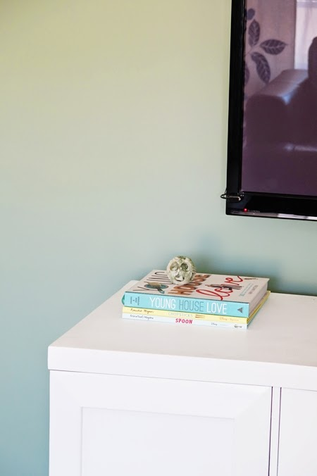hiding a cable box and dvd player fiscally chic. Black Bedroom Furniture Sets. Home Design Ideas